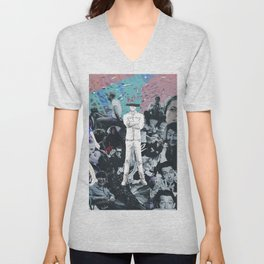 WHITE COLLAGE | Classic and Modern MOVIE Stars | digital Painting | Collage,digital print,art,poster Unisex V-Neck