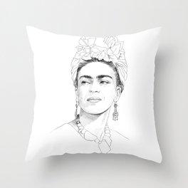 Frida Kahlo Portrait Throw Pillow