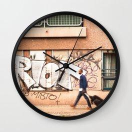 #TAGGING STREETART LIFE BERLIN, GERMANY by Jay Hops Wall Clock