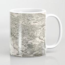 Vintage Pictorial Map of Woburn MA (1883) Coffee Mug