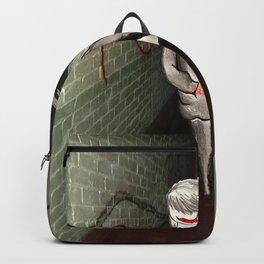 Girl in Hallway Backpack