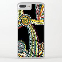 Rasta Swirls Clear iPhone Case