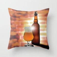 Belgian Beer Throw Pillow
