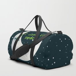 Little Green Man on Moon and Stars Duffle Bag
