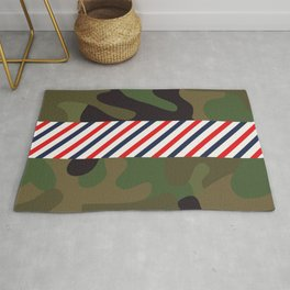 Barber Camo Pattern Rug