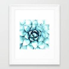 Succulent - A Watercolour Mandala Framed Art Print