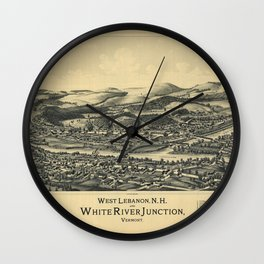 West Lebanon, New Hampshire and White River Junction, Vermont (1889) Wall Clock