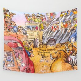 do you remember when we used to dine alone? Wall Tapestry