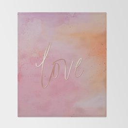 Love in the Clouds - Pink Throw Blanket