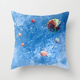 Acrylic Air Balloons Throw Pillow