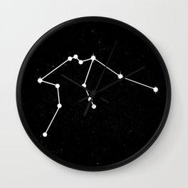 AQUARIUS (BLACK & WHITE) Wall Clock