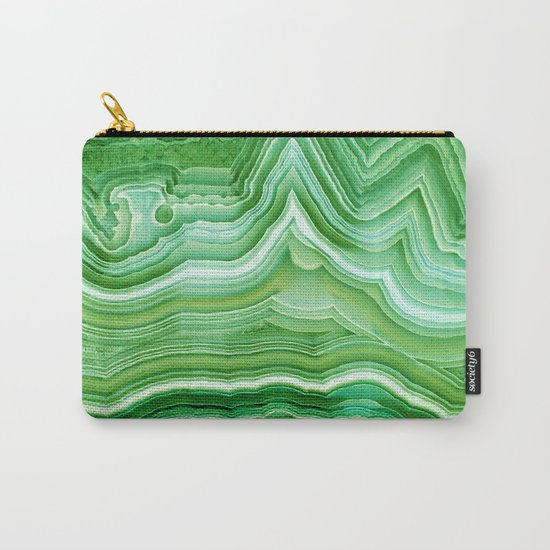 Agate crystal green Carry-All Pouch