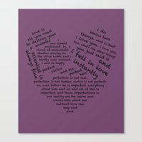 wtnv Canvas Prints featuring Quotes of the Heart - Cecilos (Black) by fairy911911