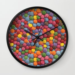 Candy-Coated Milk Chocolate Candy Pattern Wall Clock