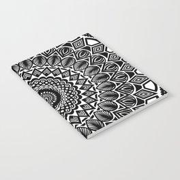 Detailed Black and White Mandala Notebook