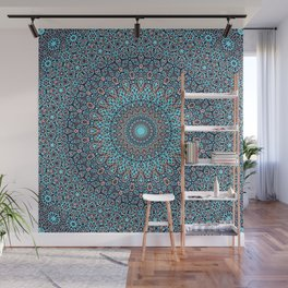 Tracery colorful pattern Wall Mural