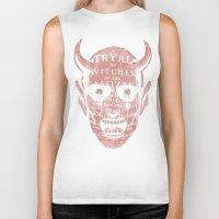 satan Biker Tanks featuring Satan by Gurven