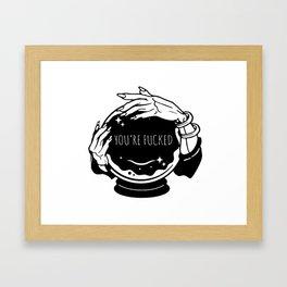 Crystal ball Fortune teller Framed Art Print