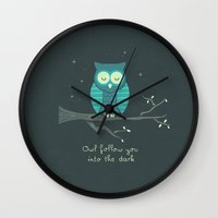 romantic Wall Clocks featuring The Romantic by Teo Zirinis