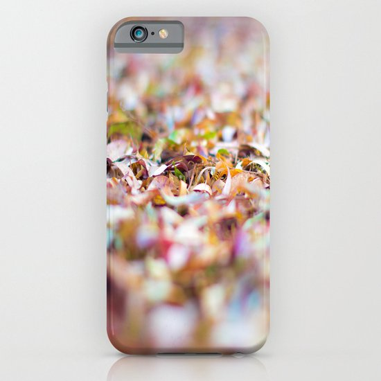 Summer Leaves Abstract iPhone & iPod Case