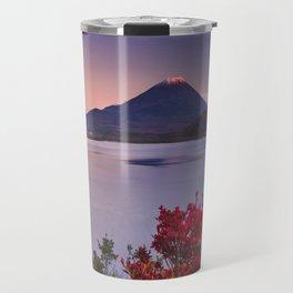 I - Last light on Mount Fuji and Lake Motosu, Japan Travel Mug