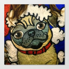 Pug Sweater Canvas Print