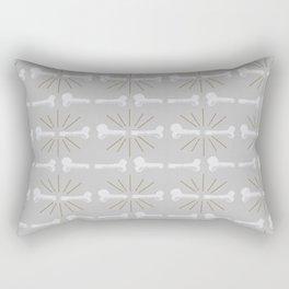 Broken Bones Grey Rectangular Pillow