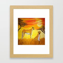 Tigers Sun Framed Art Print