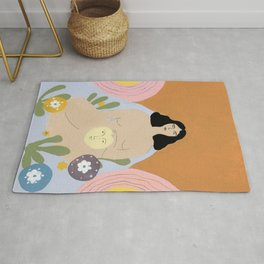 Taking care of the moon Rug