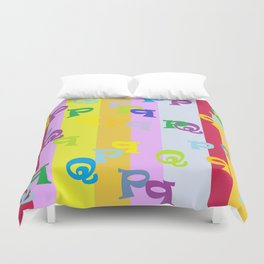 Mind Your P's and Q's Duvet Cover
