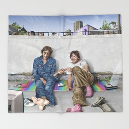 John and Paul get away from it all Throw Blanket