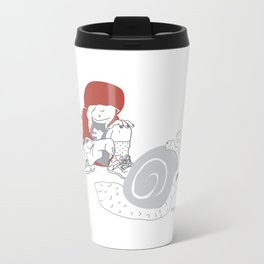 Run snail, RUN ! Metal Travel Mug