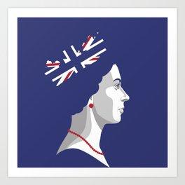 Portrait of Her Majesty The Queen Elizabeth II Art Print