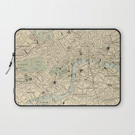Vintage Map of London England (1901) Laptop Sleeve
