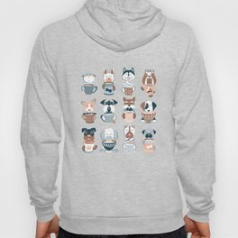 Doggie Coffee and Tea Time I // blue grey Hoody