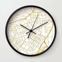 SHEFFIELD ENGLAND CITY STREET MAP ART Wall Clock