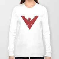 nightwing Long Sleeve T-shirts featuring Nightwing by Levi Allred