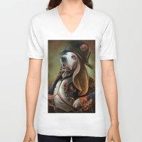 napoleon V-neck T-shirts featuring Napoleon Boneaparte by Christina Hess