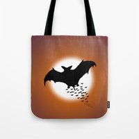 nightwing Tote Bags featuring Nightwing by JT Digital Art