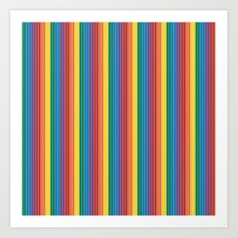 70'S Rainbow Stripe Art Print