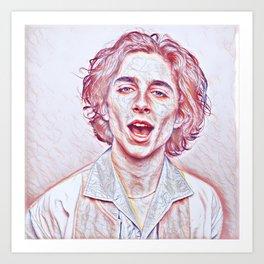 Timothée Chalamet x Sketch Art Print