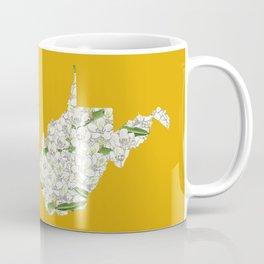 West Virginia in Flowers Coffee Mug