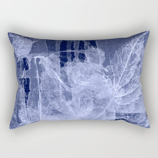 blue fozen leaves Rectangular Pillow