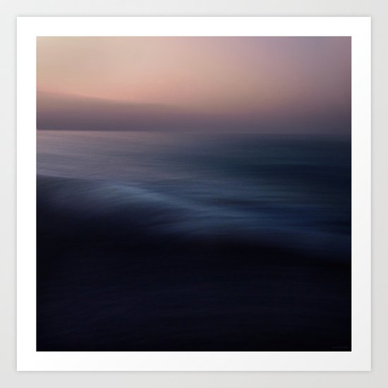 Seascape blue Art Print