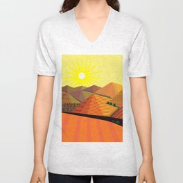 Valle de Guadelupe Eye into a Dream Unisex V-Neck
