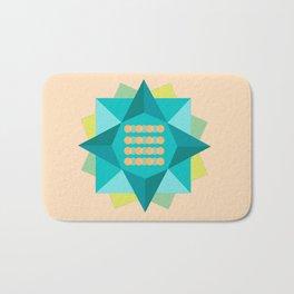 Abstract Lotus Flower - Yoga Print Bath Mat