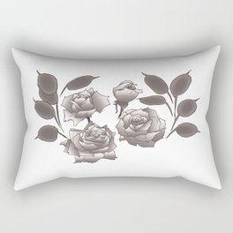 Roses and Honesty Rectangular Pillow