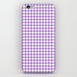 White and Lavender Violet Diamonds iPhone Skin