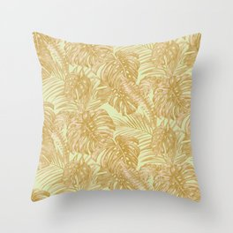 Vacation Vibes- Gold Throw Pillow