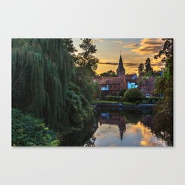Early Evening Whitchurch on Thames Canvas Print